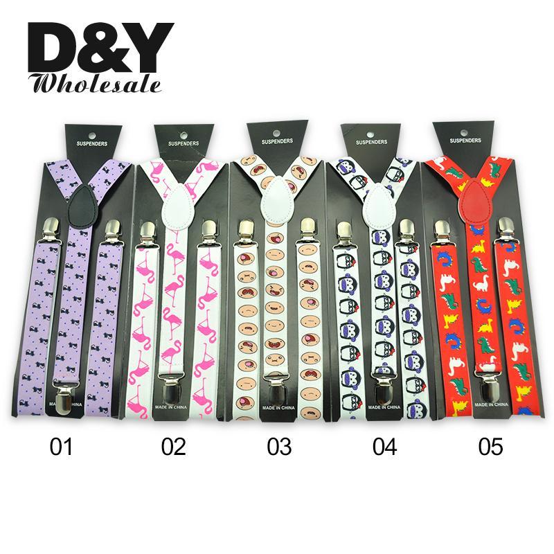 Women Men'S Shirt Suspenders For Trousers 6 Animals Design  Pants Holder Braces Funny Novelty Elastic  Wedding Suspender Belt