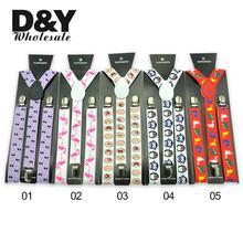 5 Animal Pattern Suspenders Women men Personality Cute Elastic Braces Y-shaped Adjustable Suspender Gallus  Wholesale Retail