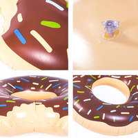 Inflatable Doughnut Pool Floats Large Gigantic Adult Super Pool Float Sweet Dessert Party Toys Giant Life Buoy Swimming Ring