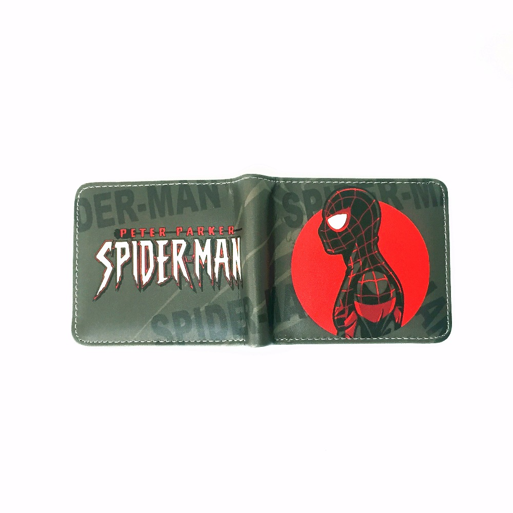 Spider Man Serie Classic Anime Wallet Cartoon Super Hero Spiderman Wallet Bifold Short Student Comics Purse Venom Wallet W491 dc wonder woman wallet suicide squad purse super hero fashion cartoon wallets personalized anime purses for teens girl student