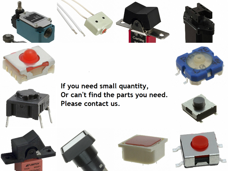 [VK] 67061K512 SWITCH PUSHBUTTON 4PDT 3A 125V SWITCH [vk] av044746a200k switch pushbutton dpdt 6a 125v switch