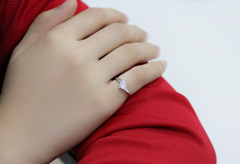 Cute Female Small Zircon Stone Ring 925 Silver Wedding Jewelry Promise Engagement Rings For Women 19 Valentine's Day Gifts 9