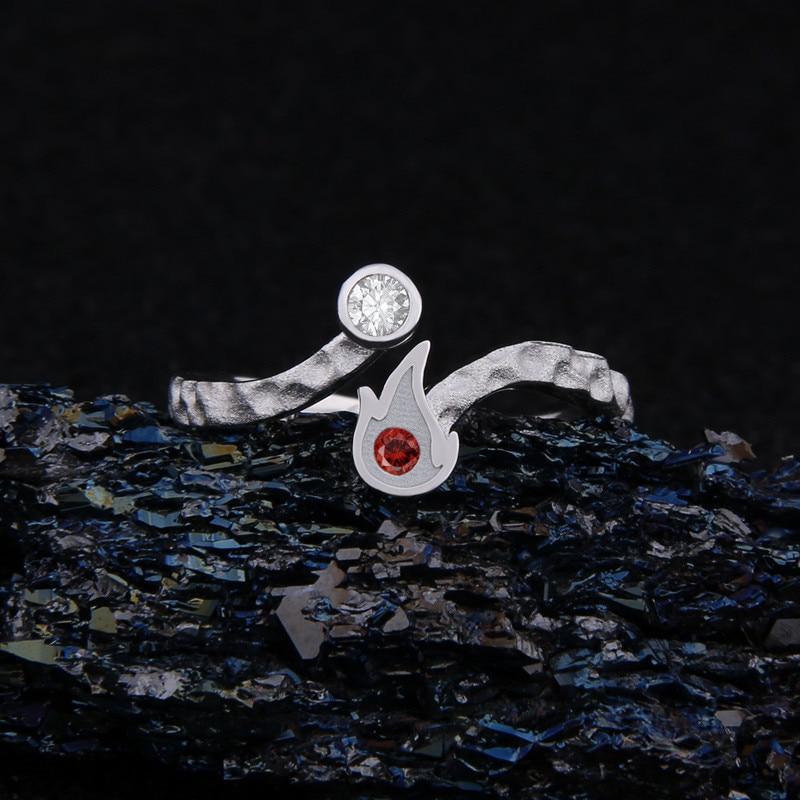 أنيمي بطلي الأكاديمية تودوروكي Shoto خاتم 925 الفضة تأثيري هدية حجم 6/7 حلقة هالوين الكرتون حلقة هدية الكريسماس-في خواتم من الإكسسوارات والجواهر على  مجموعة 2
