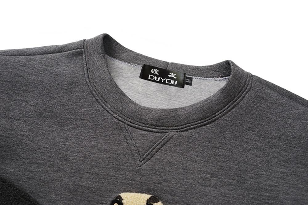 Duyou men hoodies 핫 세일 패션 브랜드 후드 남성 캐주얼 후드 자수 이글 힙합 코튼 긴 소매 스웨트-에서후드티 & 스웨터부터 남성 의류 의  그룹 3