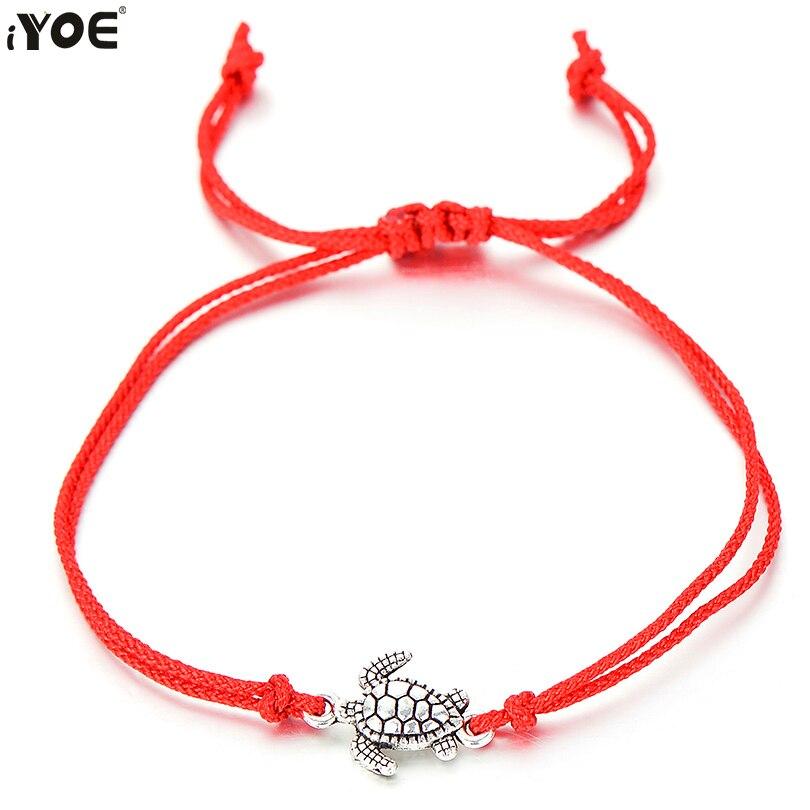 5b854151a29 IYOE Handmade Lucky String Rope Red Thread Bracelet For Women Kids Vintage  Bohemian Sea Turtle Bracelets
