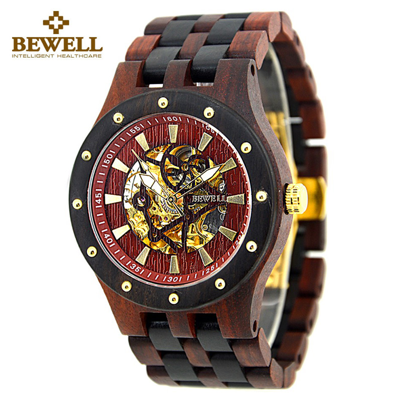 Luxury Mechanic Men's Wood Timepiece; Perfect Fashion Wooden Watch