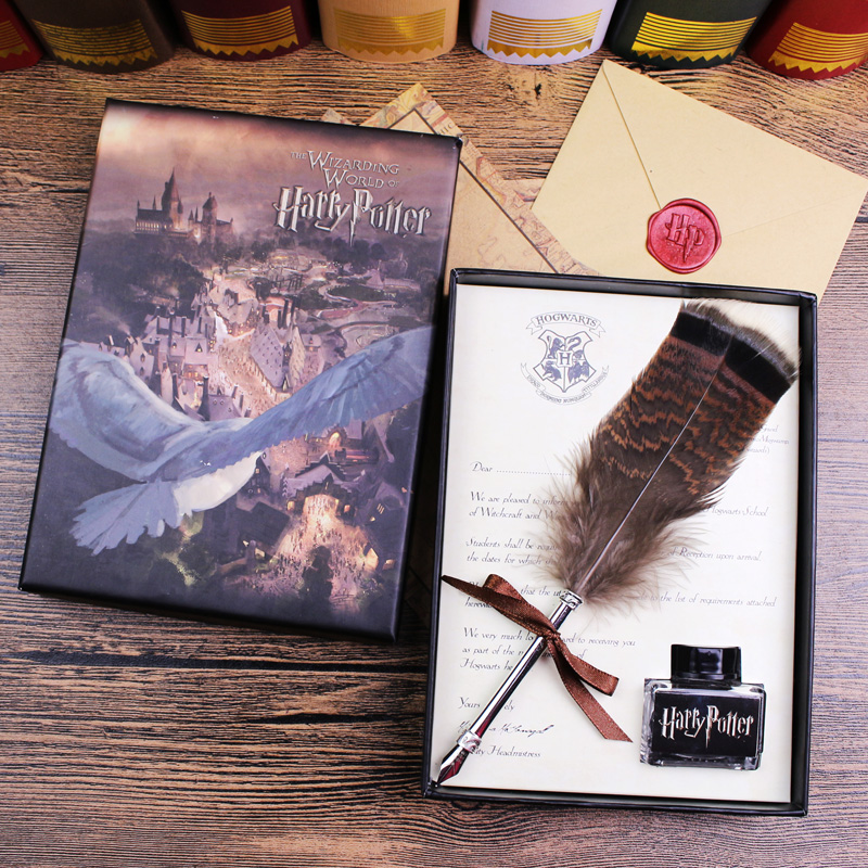 Nature Feather Antique Dip Pen Set with 1 ink nature explorer box set