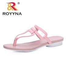 Женские пляжные шлепанцы royyna удобные на плоской подошве сандалии