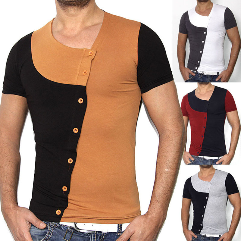 Aliexpress.com : Buy Fashion Buttons T Shirt Men 2017 ...