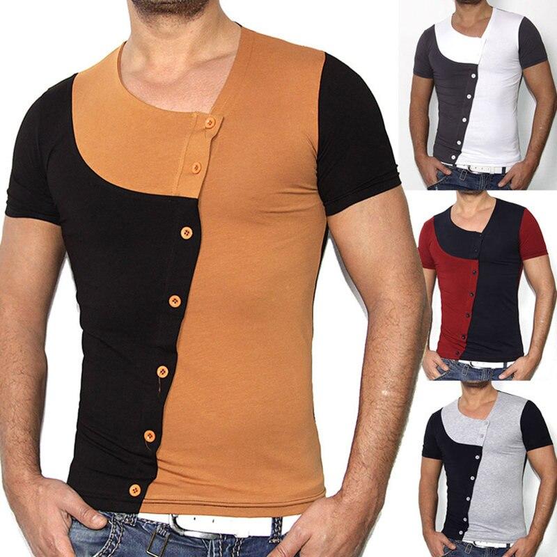 Buy fashion buttons t shirt men 2017 for New fashion t shirt man