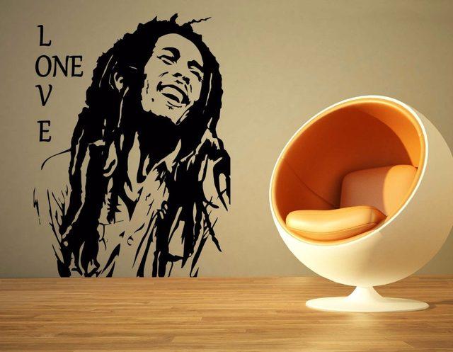Online Shop Bob Marley Reggae Rasta Jamaica Large Vinyl Transfer ...