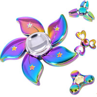 Fidget Spinner Colorful Rainbow Owl Luminous Eyes Hand Tri Spinner For Autism ADHD Toys EDC Desk