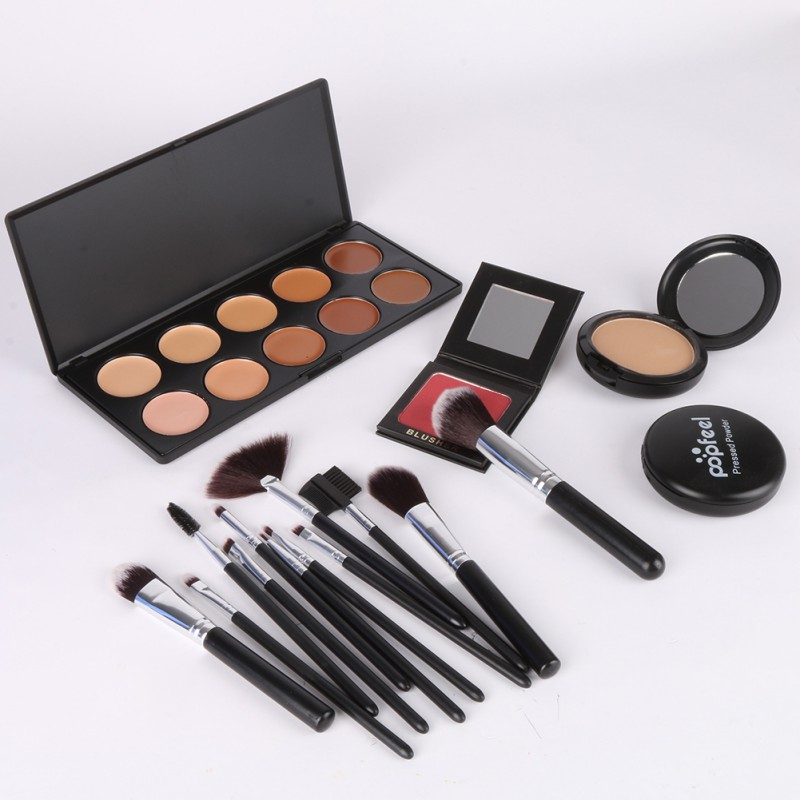 12Pcs Professional Makeup Brushes Kit Қабақ Бояуы - Макияж - фото 6