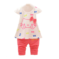 New 2015 Summer Baby Girl Clothing Set Minnie Vest Dot Shorts Little Girls Summer Sets Cotton