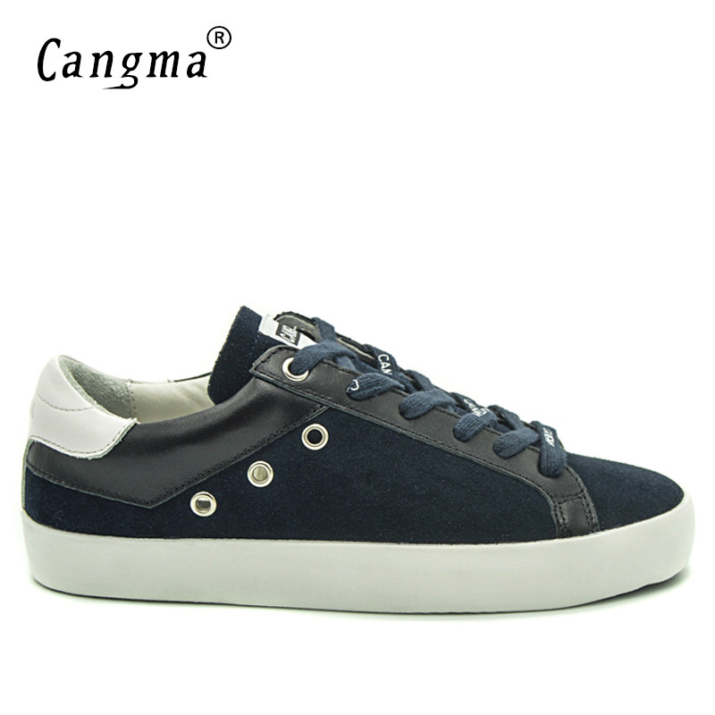 CANGMA British Style Men Shoes Navy Blue Genuine Leather Sneakers Suede Shoes Man Casual Mens Footwear Old Skoo Shoes MaleCANGMA British Style Men Shoes Navy Blue Genuine Leather Sneakers Suede Shoes Man Casual Mens Footwear Old Skoo Shoes Male