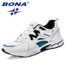 BONA Spring Autumn Mens Sneakers 2019 Men Running Shoes Comfortable Trending Sports Shoes Breathable Trainers Sneakers For Male