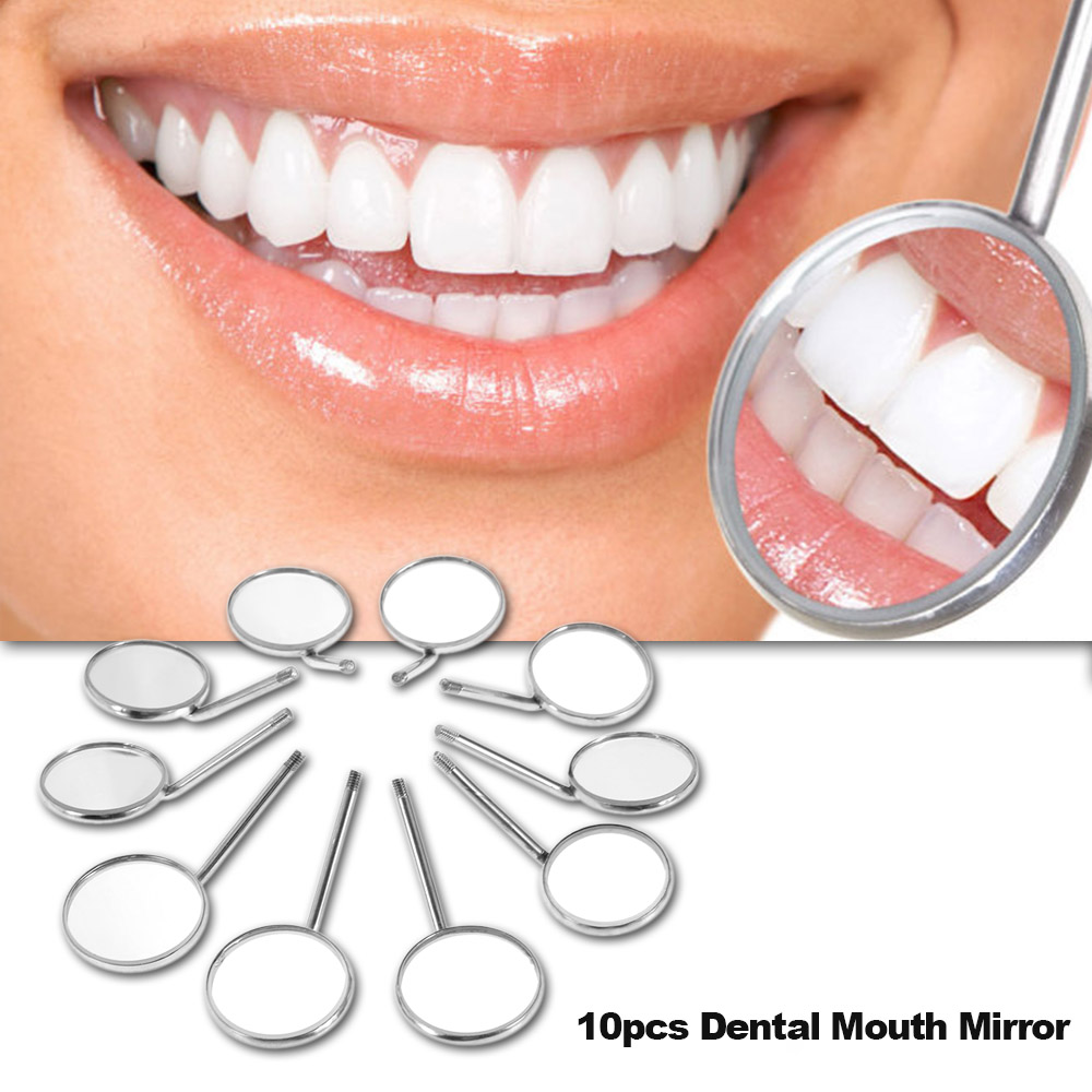 10pcs Dental Mouth Mirror 4# Reflector Odontoscope Dentist Equipment Stainless Steel Dental Mouth Mirror
