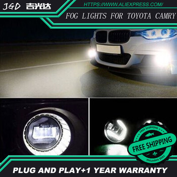 Free Shipping For Toyota Camry 2006-2012 LR2 2006-2014 Car styling front bumper LED fog Lights high brightness fog lamps 1set