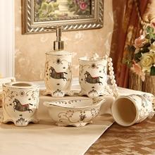 5 шт.. Модный керамический набор для ванной комнаты свадебные подарки ванная принадлежности зубная щетка жидкое мыло
