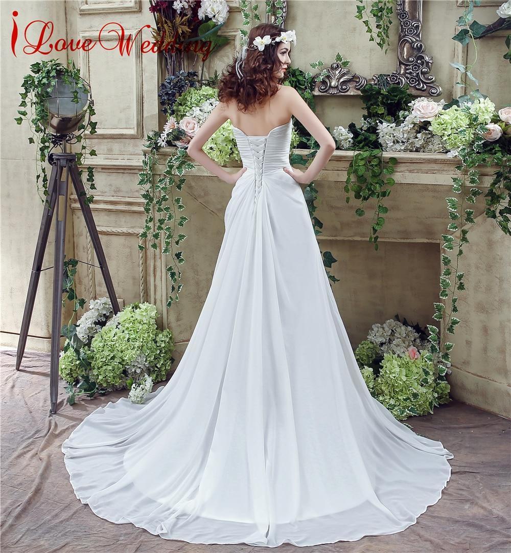 Vintage Φτηνές Γάμος Φόρεμα Στράπλες Chiffon - Γαμήλια φορέματα - Φωτογραφία 3