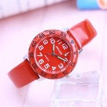 2018 Fashion Children Watch For Boy Leather Strap Wristwatch
