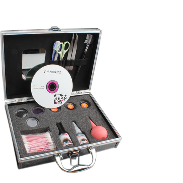 Best Makeup Women False Eyelash Extension Kit Cluster Eye Lashes Tool Set