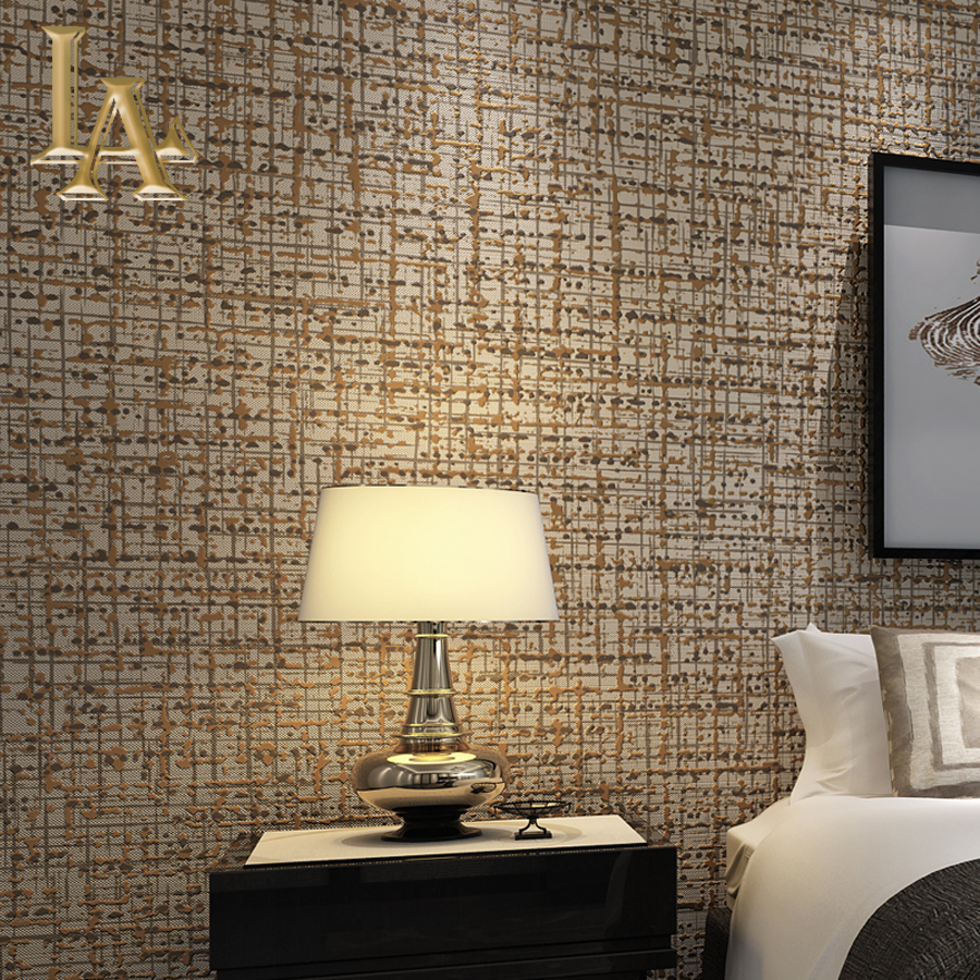 Buy modern solid color flocking textured for Wallpaper for small living room