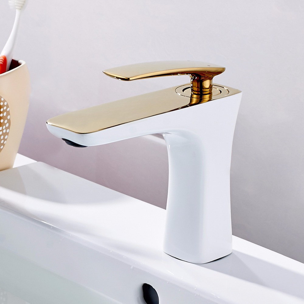 Free Shipping Bathroom Faucet Grilled White Paint Chrome Finish - Chrome paint for bathroom fixtures
