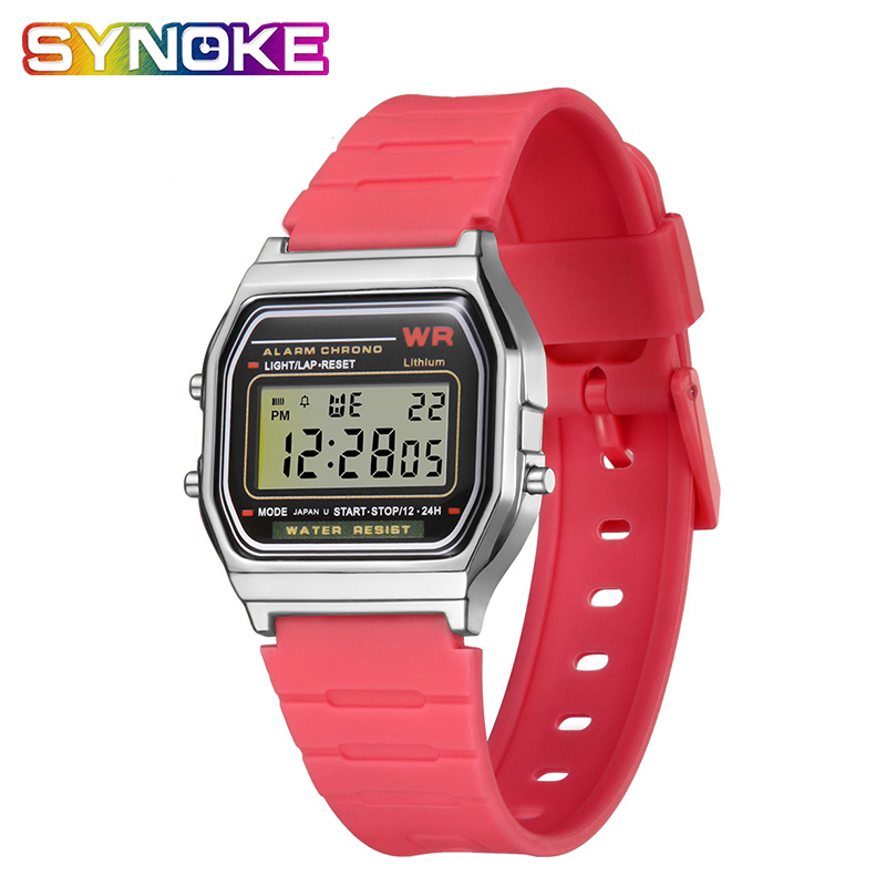 SYNOKE New Children's Watches Watch Child Watch Waterproof Silicone Digital Sport Watch For Boys Girls Women Zegarek Dzieciecy