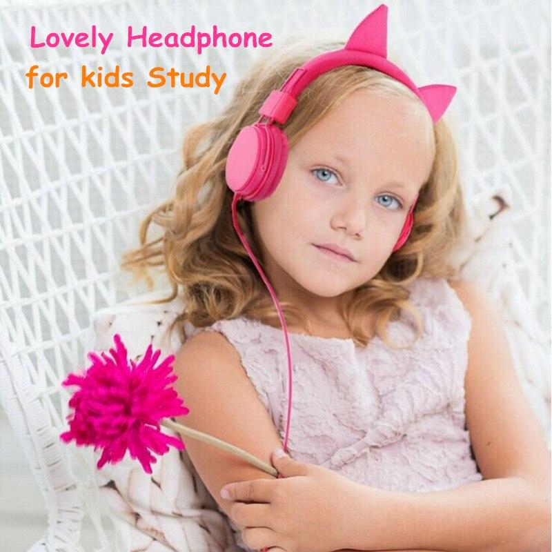 2017 High Quality Loverly Kids Child Girls Headphone to Study Earphone Princess Headphone MP3 Player Hifi Music Earphone Headset