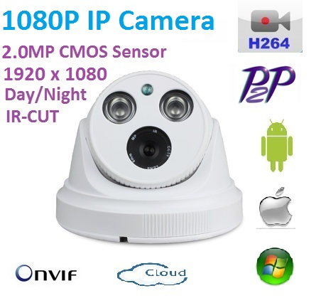 New type1920 1080P H 264 2 0 Megapixel ONVIF HD 1080P IP Camera P2P indoor IR