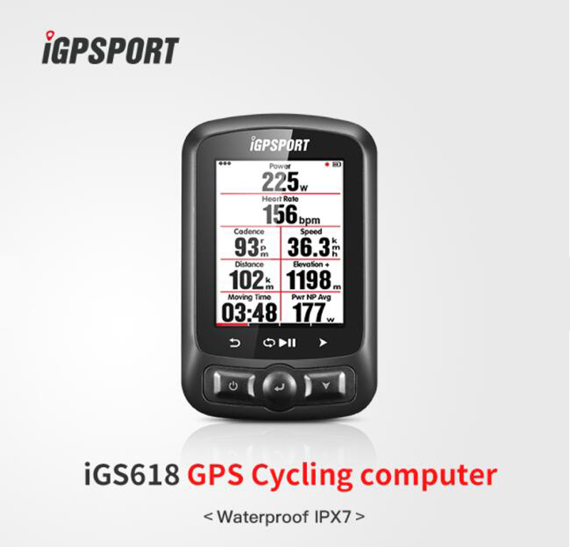 Écran couleur ordinateur de Cycle gps iGS618 iGPSPORT gps tracker vélo navigation Compteur De Vitesse IPX7 3000 heures de stockage de données