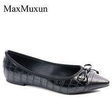 Maxmuxun/Женская обувь на плоской подошве с острым носком украшенная
