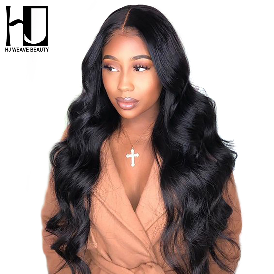 Lace Front Human Hair Wigs Indian Body Wave Pre plucked With Baby Hair Remy Hair Wigs