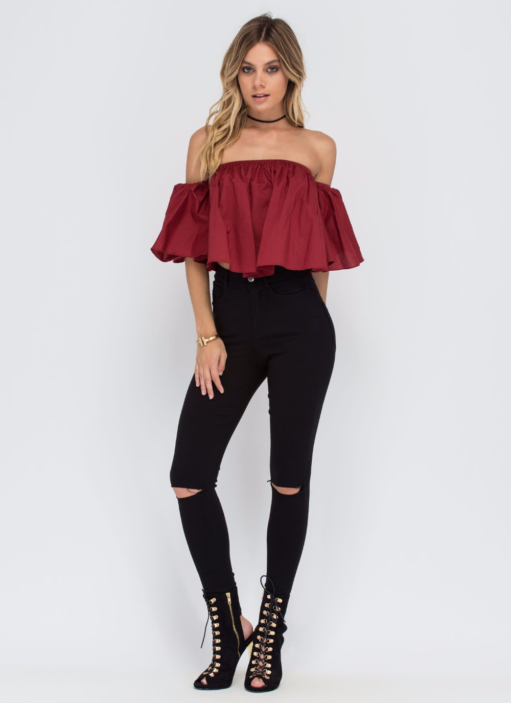 HTB1uvdNNFXXXXX0XVXXq6xXFXXXk - T shirt women butterfly sleeve off the shoulder crop top 2017