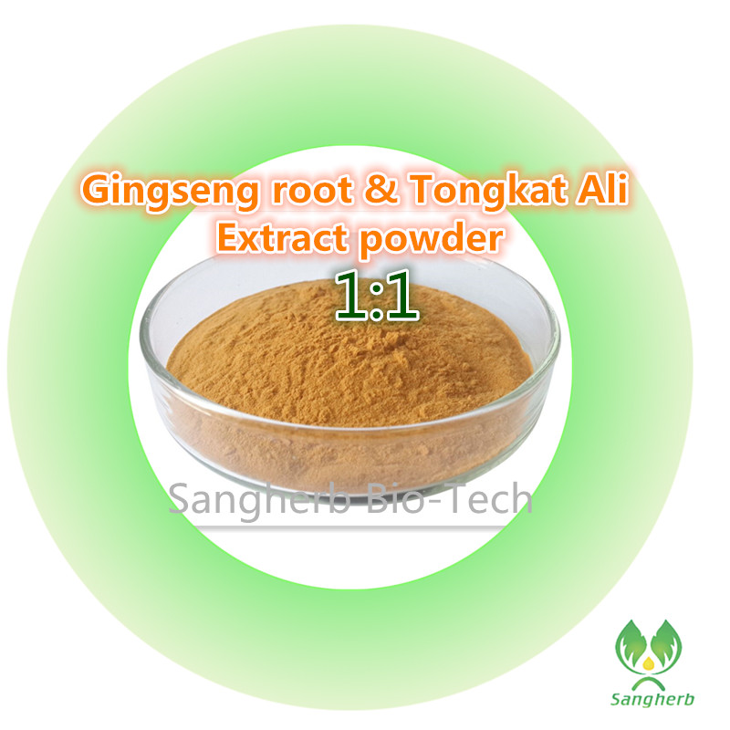 Natural Ginseng root extract and Tongkat ali extract powder 1:1 compound 1kg nourishing Increases sexuality&Strong erections