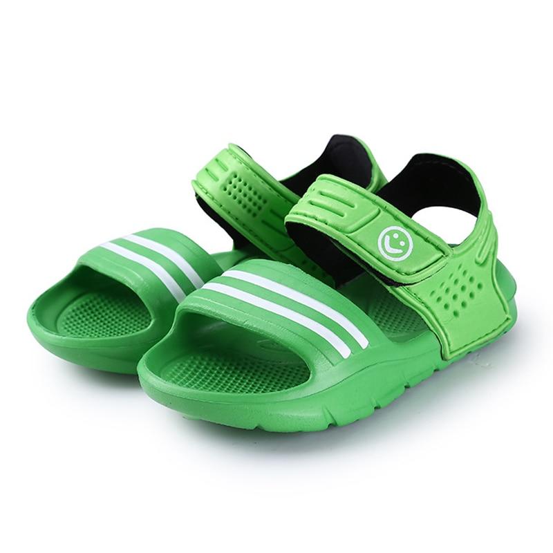 2017 Elsa Shoes Rubber Real New Plain Ankle Strap Unisex Sandalias - Zapatos de niños - foto 3