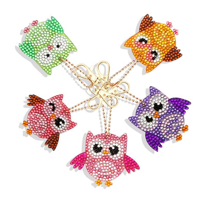 LLavero de diamante DIY con forma especial, llavero de diamante, punto de cruz, bordado, juego de llavero