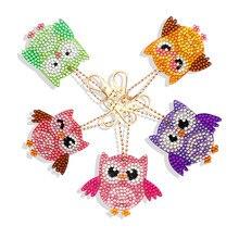 DIY Diamond Handbag Keychain Embroidery Cross-Stitch Key-Ring-Set Special-Shape