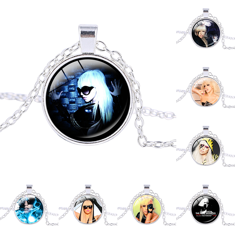 Lady GaGa singer necklace statement necklace Jo Calderone pendant trendy necklace Chokers photo charm Silver plated pendant ...