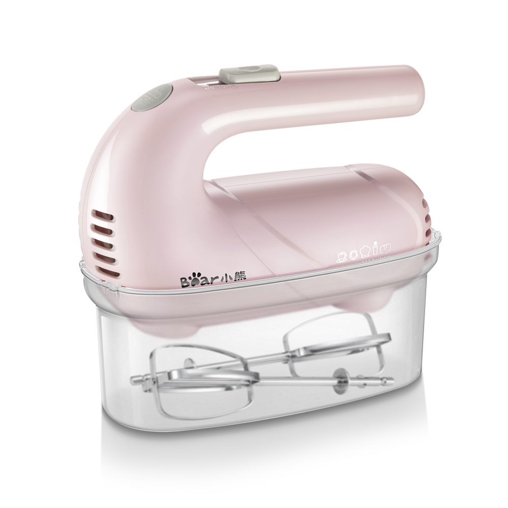 220V Electric Handheld Egg Beater Household Portable Mini Egg Cream Bread Baking Mixer 5 Gear Control Pink White Color Available