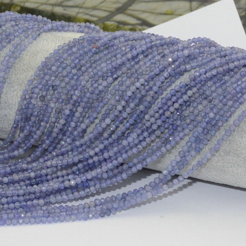 HTB1uvdsbEjrK1RkHFNRq6ySvpXad Natural Tanzanite Faceted Loose Round Beads 2.2mm / 3.5mm / 4mm