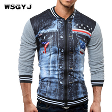 WSGYJ Brand 2017 Zipper Cardigan Characters Print Men Men Fashion Tracksuit Male Sweatshirt Off White Hoody Mens Purpose Tour