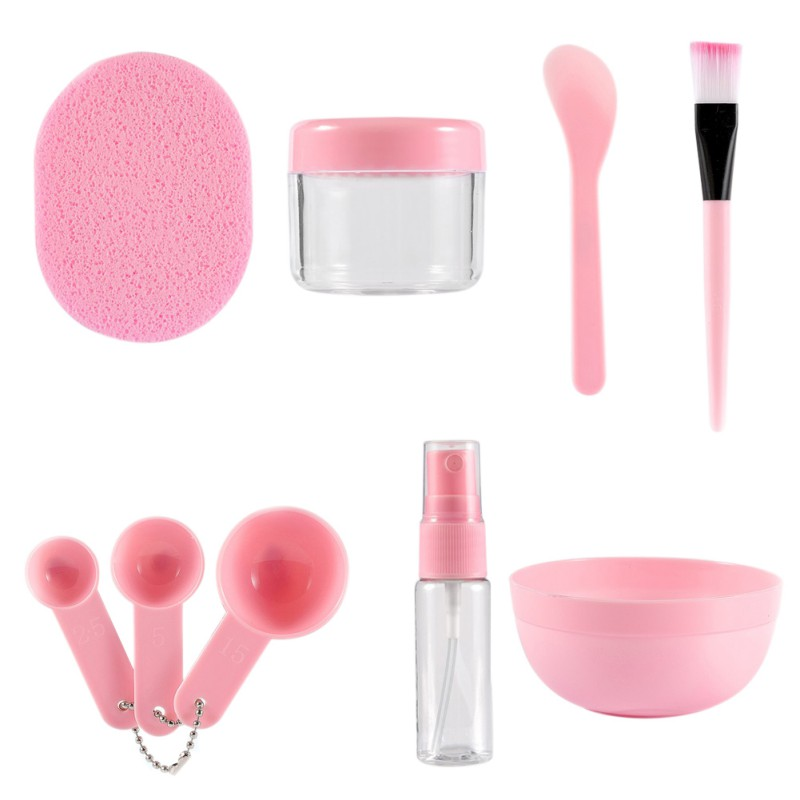 2019 New DIY Facial Mask Kit 9 In 1 Skin Care Makeup Tools Face Mask Brush Bowl Set Mask Stir Spatula Mixing Stick Spoon