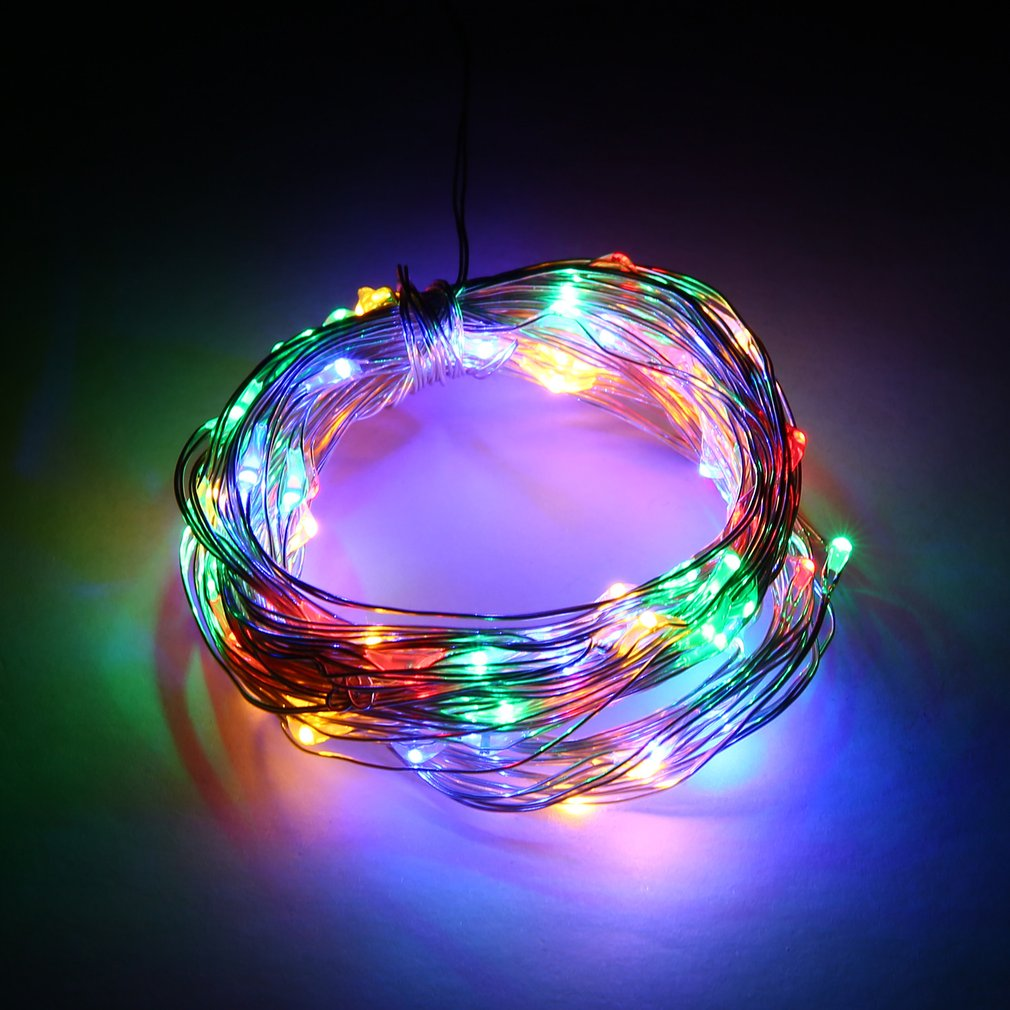 Usb Remote Control Copper Light String 5/10 Meters Lights Colorful Led Star Lights String Halloween Led Copper String Lights