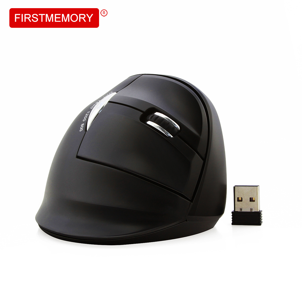 Wireless Vertical Mouse 6D Ergonomic 800-1200-1600DPI 2.4Ghz Optical Gaming Right Hand Mice With Mouse Pad For PC Laptop Desktop