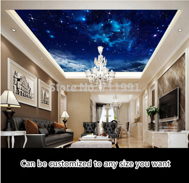 online shop custom ceiling wallpaper nebula in the night sky 3d rh m aliexpress com