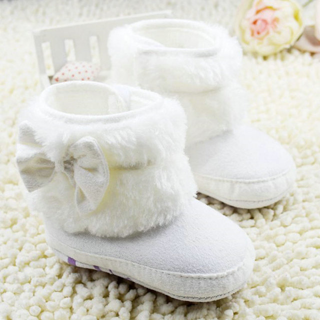 Aliexpress.com : Buy 2017 Baby Girl Bowknot Fleece Snow Boots ...