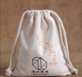High quality cotton canvas customized small drawstring bag jewelry bag wholesale dust bag for shoe gift jewelry rice