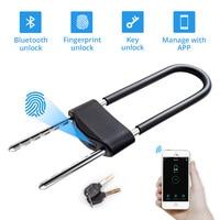 Golden Security Waterproof Smart APP Control Fingerprint Bluetooth Key 3 Unlocking Ways Door Lock Security Padlock